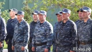 В МВД Бурятии встретили отряд сотрудников полиции, прибывший из служебной командировки