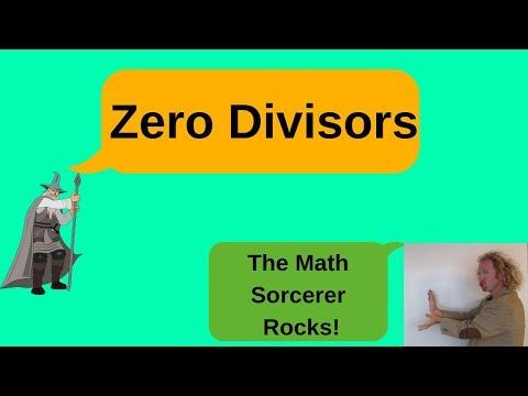 Definition Of A Zero Divisor With Examples Of Zero Divisors