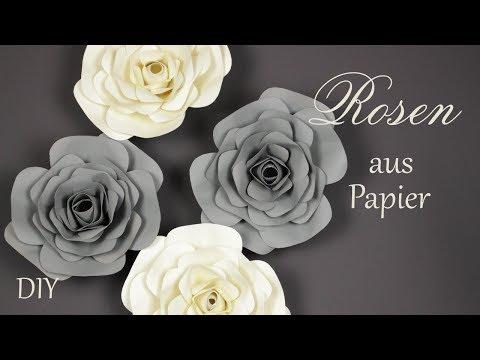 DIY | Rosen aus Papier | große Papierblüten | schöne Wanddeko | Just Deko