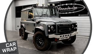 Land Rover Defender Bowler wrapped Nardo Grey