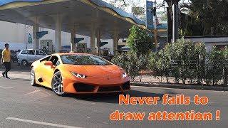 Rare Orange Lamborghini Huracan in Bangalore