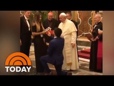Man Pops Question To Girlfriend At Vatican ... In Front Of The Pope | TODAY