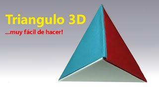 Como hacer Triángulo en 3D Origami - Fácil de hacer