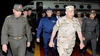 """الفريق محمود حجازى يعود إلى أرض الوطن بعد حضور فاعليات التدريب المشترك """"رعد الشمال"""""""