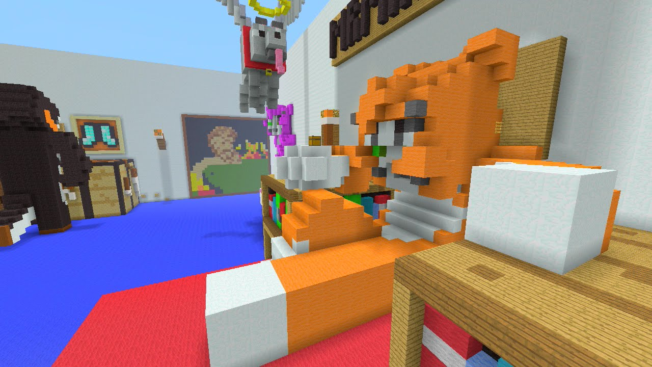 Minecraft Xbox 360 - Stampy's Bedroom Hunger Games - BEAST ...