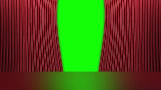 [영상소스] 커튼 열리는 크로마키 효과 (폰편집 가능)