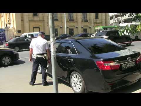 Встреча губернатора, машины из администрации не штрафуем г. Ростов-на-Дону