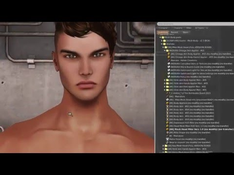 Signature Gianni Male Mesh Body in Second Life - YouTube