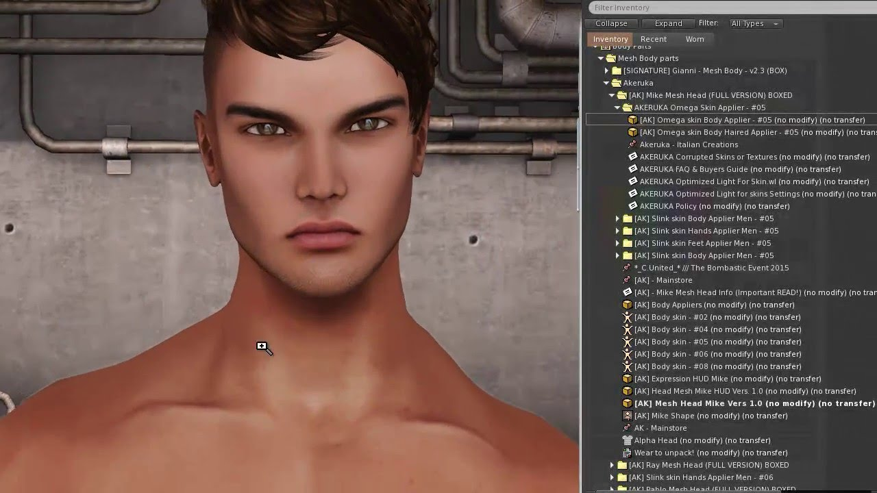Signature Gianni Male Mesh Body in Second Life