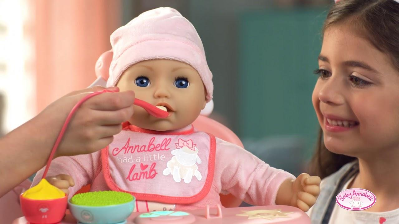 Baby Annabell Jídelní židlička 2019 CZ - YouTube