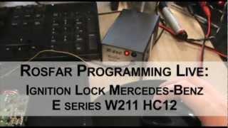 Rosfar R260 Mercedes benz ignition lock programming english