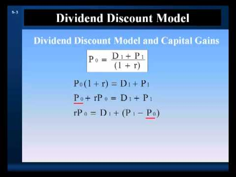 Stock Valuation Part 1:  Dividend Discount Model