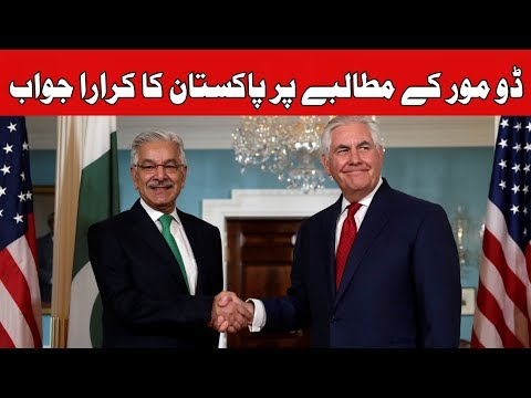 Khawaja Asif Meets US Counterpart In Washington