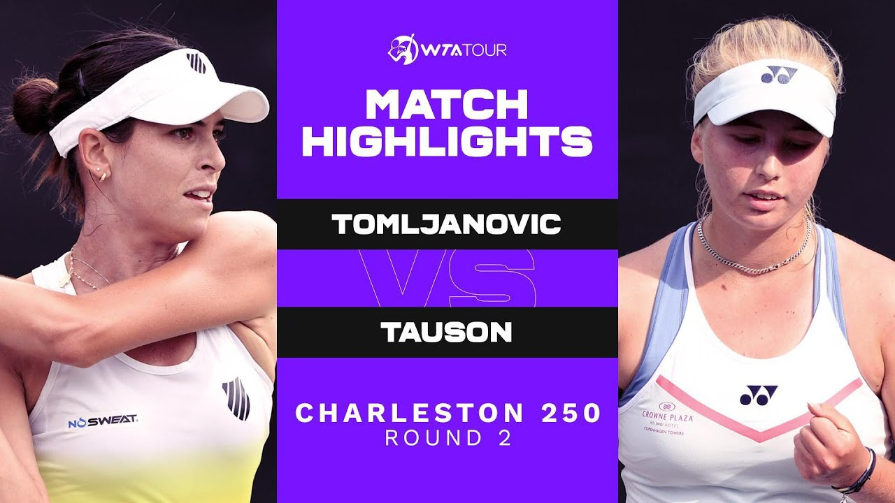 Ajla Tomljanovic vs. Clara Tauson | 2021 Charleston 250 Round 2 | WTA Match Highlights