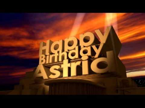 Happy birthday astrid