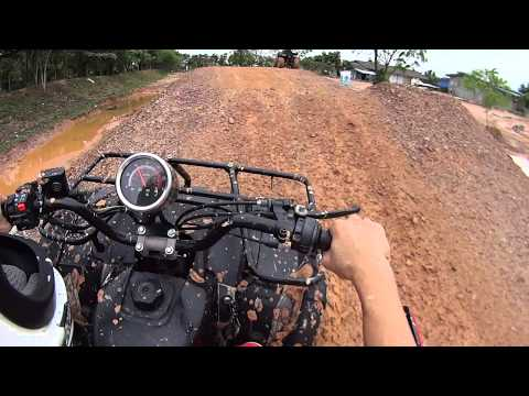 Batam ATV ride on 8 Dec 2013 near Golden View Hotel - full video 01