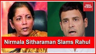 Video Nirmala Sitharaman Slams Rahul Gandhi's Rafale Allegations | #ModiTrustTest download MP3, 3GP, MP4, WEBM, AVI, FLV Juli 2018
