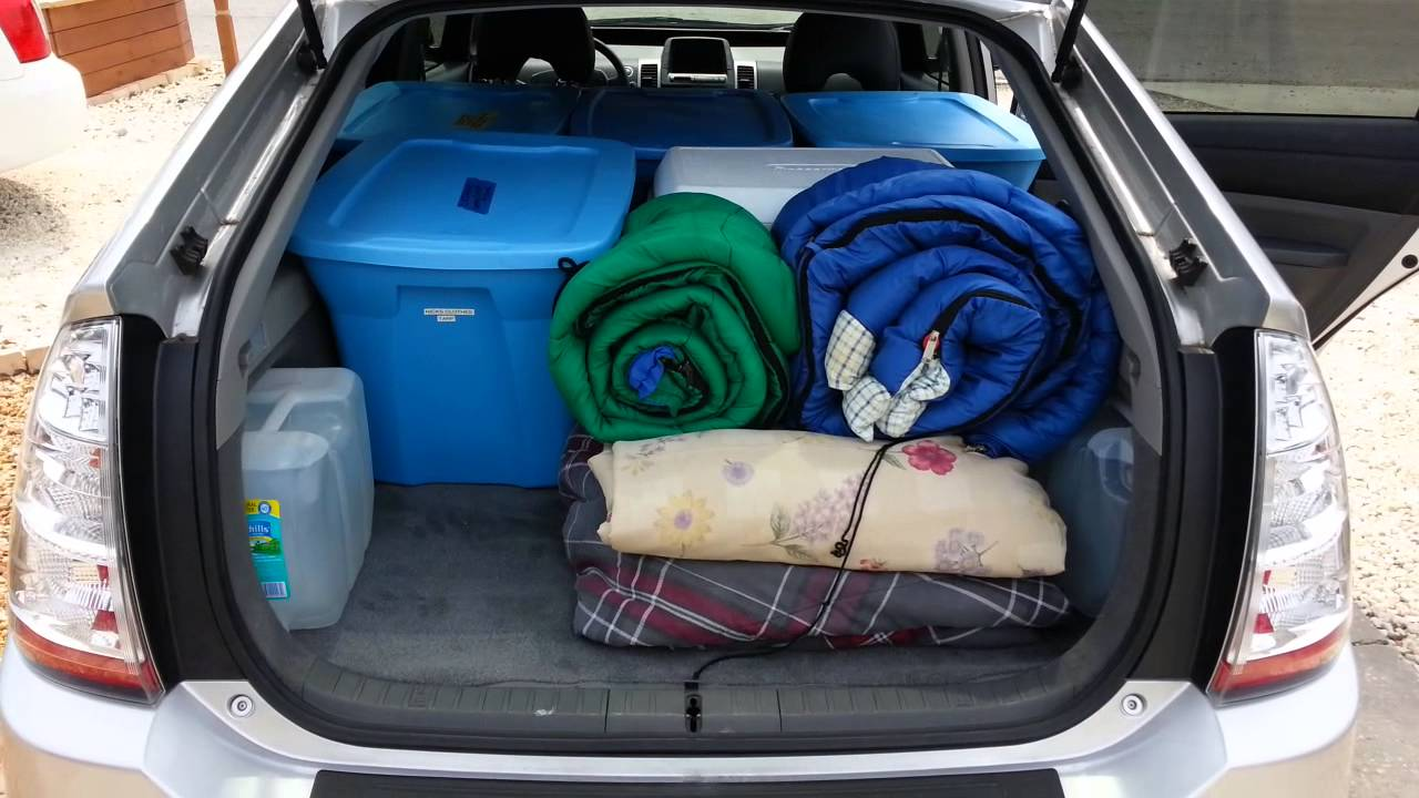 4 how much can fit in a prius a lot youtube. Black Bedroom Furniture Sets. Home Design Ideas
