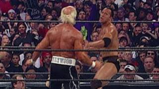 "Dwayne ""The Rock"" Johnson battles Hollywood Hogan"