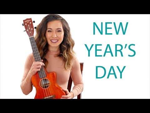 New Year's Day - Taylor Swift Easy Ukulele Tutorial with Play Along
