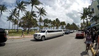 Miami South Beach Walking On Ocean Drive Florida Heat