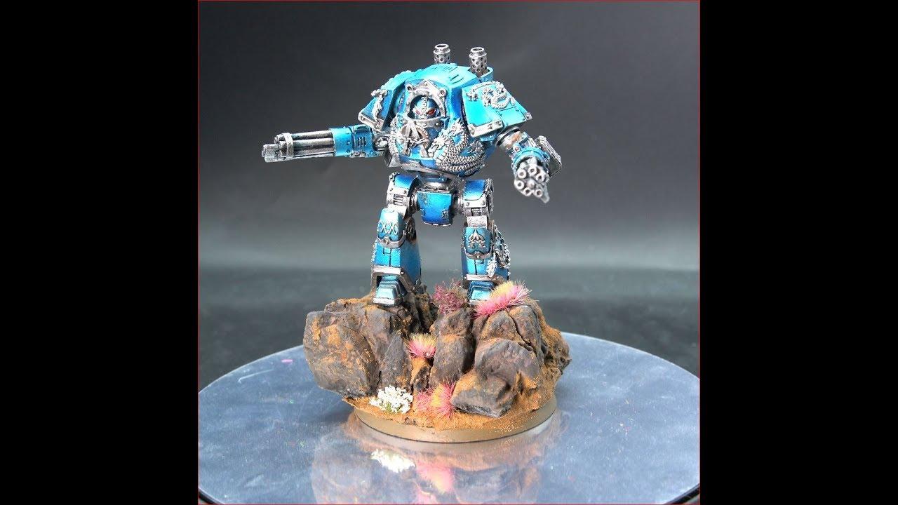 Alpha Legion Contemptor Dreadnought Painting Showcase Horus Heresy 30K  Warhammer 40k 8 Ed 2019