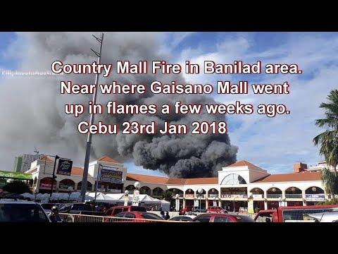 Country Mall Fire in Banilad area Near where Gaisano Mall