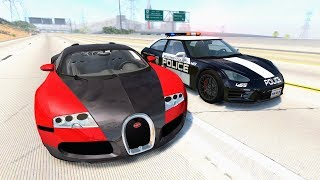 Crazy Police Chases #27 - BeamNG Drive Crashes