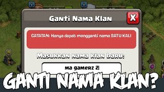 Clan COC Aneh Dan Misterius - Emang Bisa ganti Nama Clan? - Clash Of CLans Indonesia - MISTERI COC