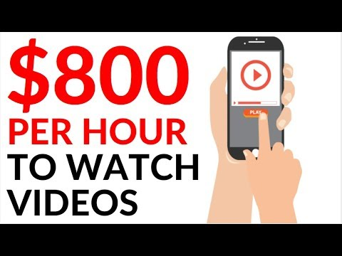 Earn $800 in 1 Hour WATCHING VIDEOS! (Make Money Online 2020)