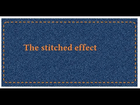 The denim Stitched pattern Svg stitches over Png fabric - YouTube