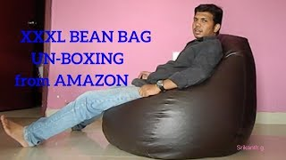 solimo XXXL BEAN BAG Unboxing || Amazon.