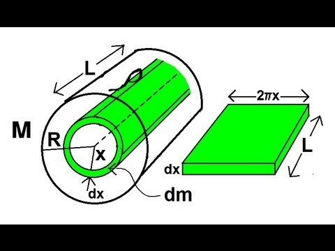 Physics - Mechanics: Moment of Inertia (4 of 6) Derivation of Moment of Inertia of a Solid Cylinder
