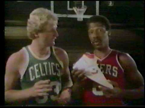Larry Bird, Dr J, Magic Johnson Converse commercial from 1985