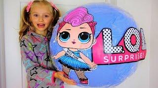 Гигантский Шар с Куклами LOL Видео для Девочек