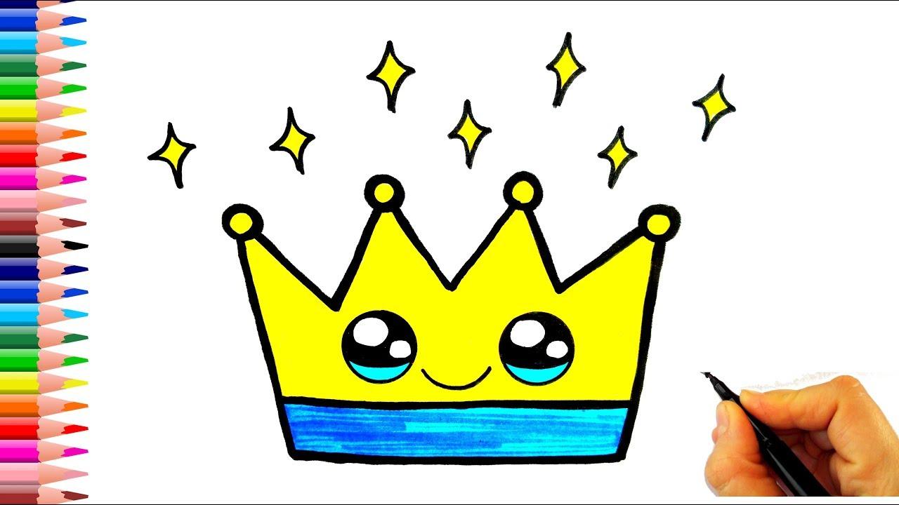 Sevimli Kral Tacı Çizimi👑Kolay Çizimler❤
