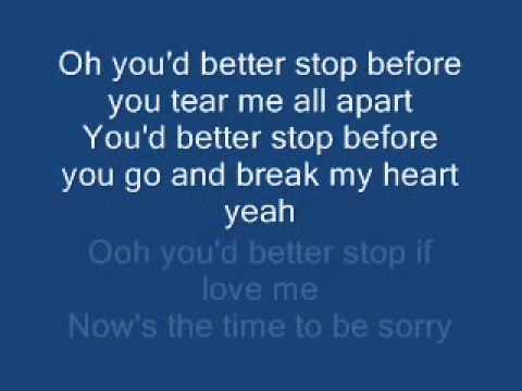 Jamelia - Stop (lyrics)