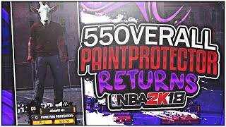 55 paint protector visits nba 2k18 mypark! the greatest brown shirt in 2k history! (must watch)