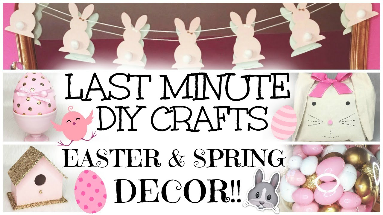 last minute easy diy easter spring decor crafts 2016 youtube