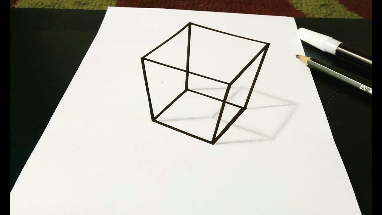 Trik Menggambar Ilusi Optik Kubus 3d Sangat Mudah