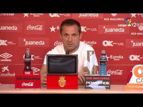 Rueda de prensa de Sergi Barjuan tras el RCD Mallorca vs Getafe CF (3-3)