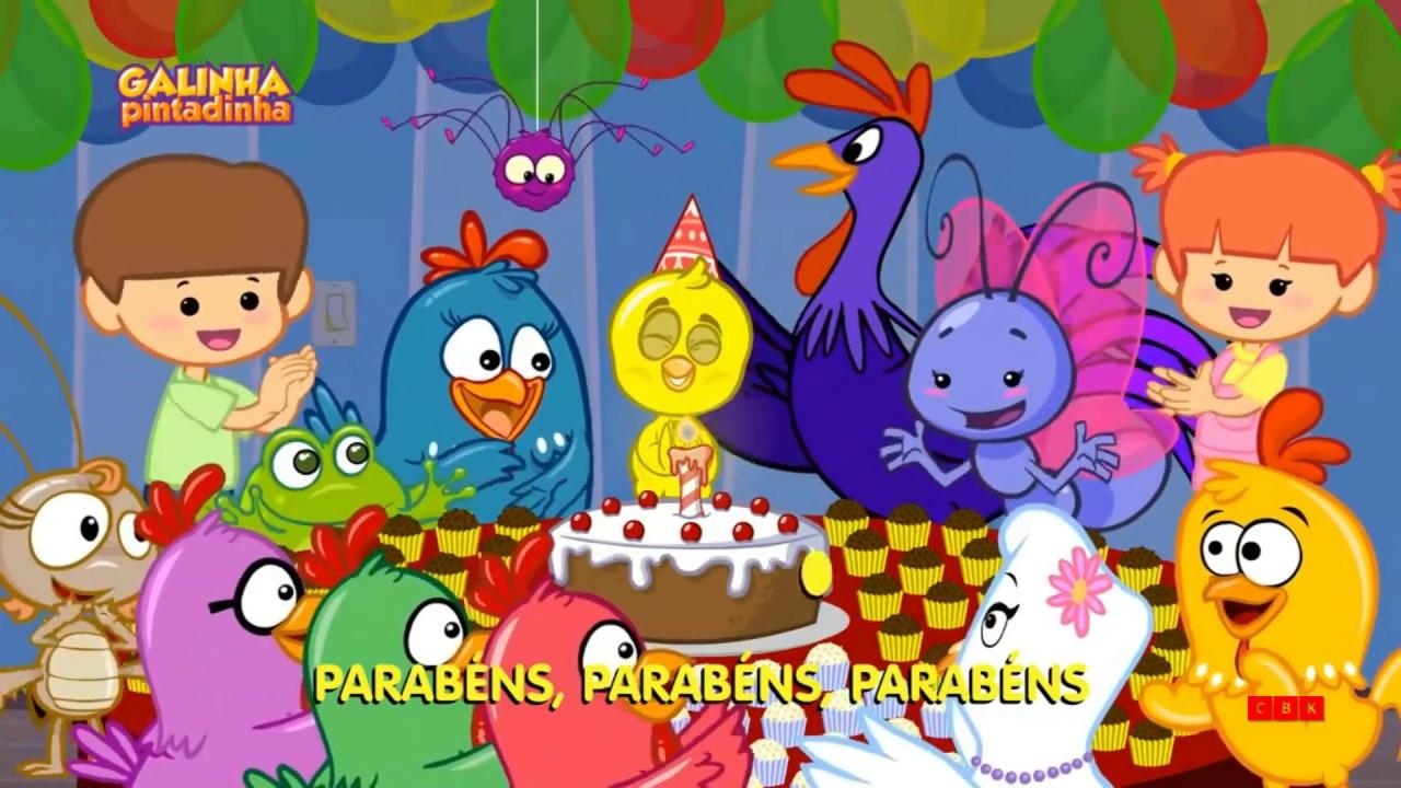 Galinha Pintadinha Parabéns Cartoon Baby Kids Youtube