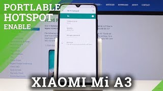 How to Turn On / Off Portable Hotspot in Xiaomi Mi A3 - Network Sharing