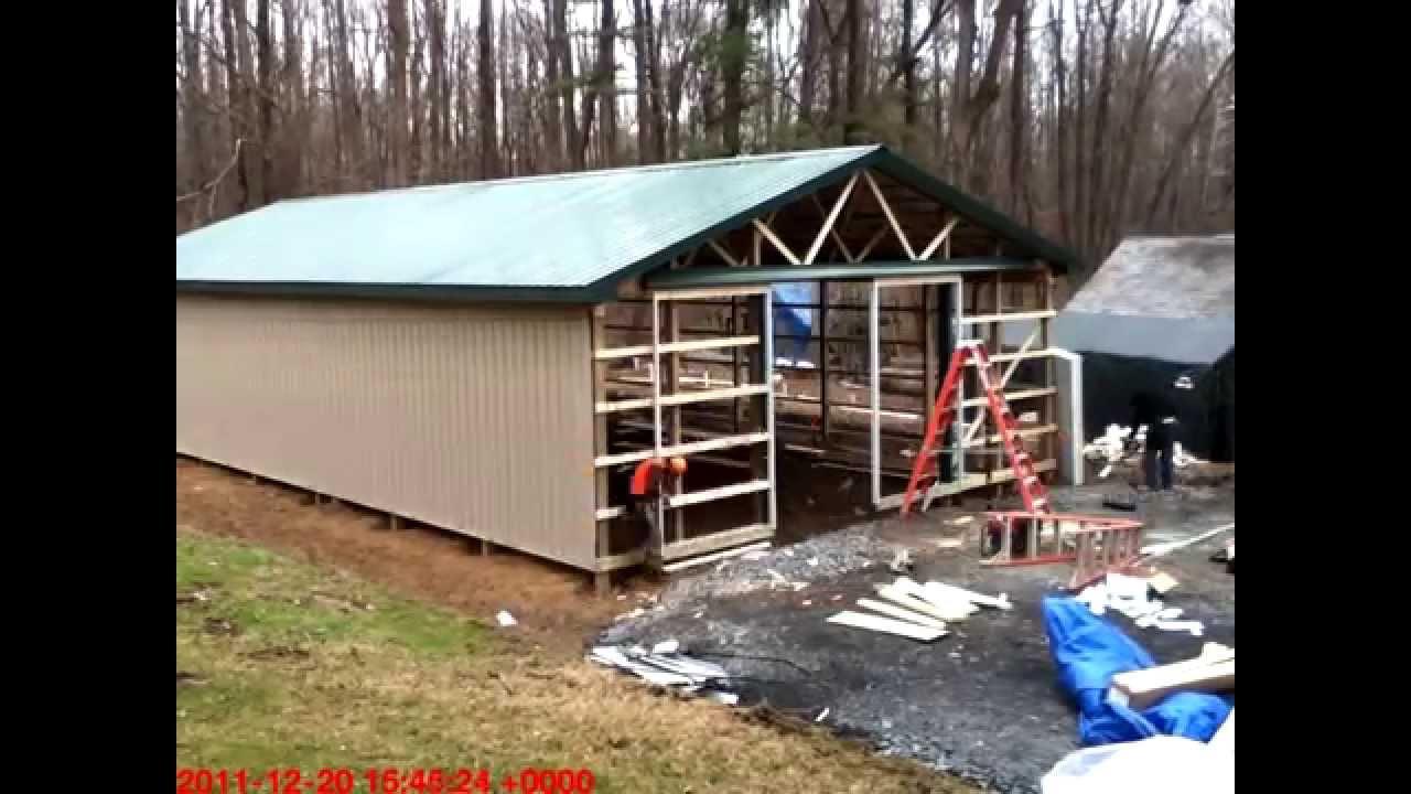 medium resolution of pole barn framing