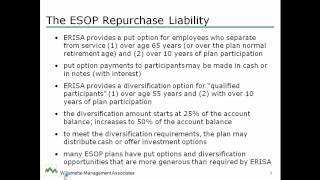 CTI QuickTip - Consideration of the ESOP Repurchase Liability in the Employer Stock Valuation