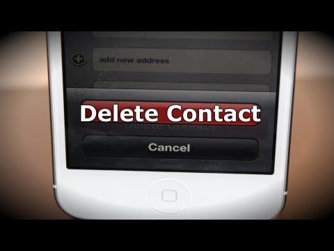 How To Delete Iphone Contacts