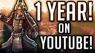 🔴1 YEAR ON YOUTUBE! \\ PLAYING WITH SUBS!\\ Fortnite XBOX Live stream!!