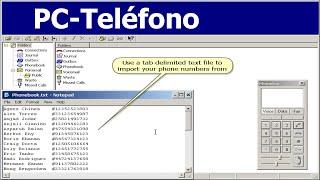 PC-Teléfono VoIP Software Gratis Llamadas de Agenda Telefónica Video Tutorial