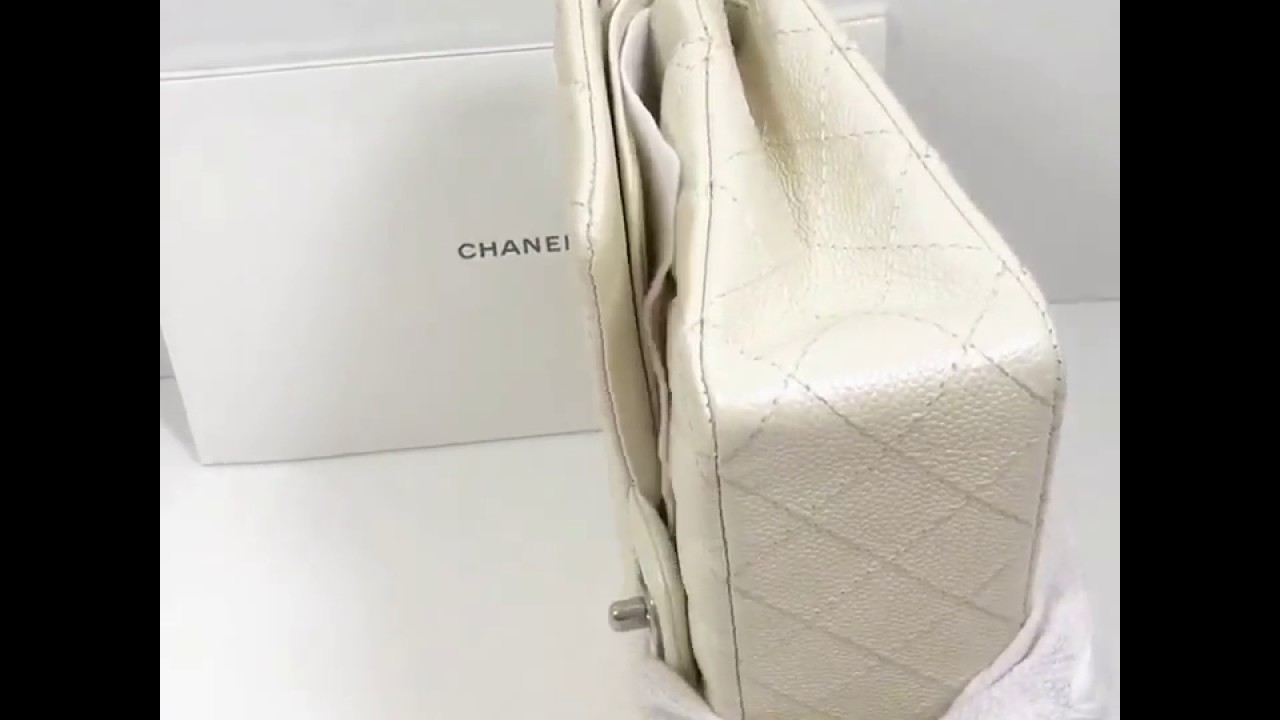 Authentic Chanel Classic Quilted Caviar Double Flap Bag - YouTube ff68a4d414