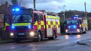 Fire Service - Rescue Pump and Heavy Rescue Pump on scene at fire!